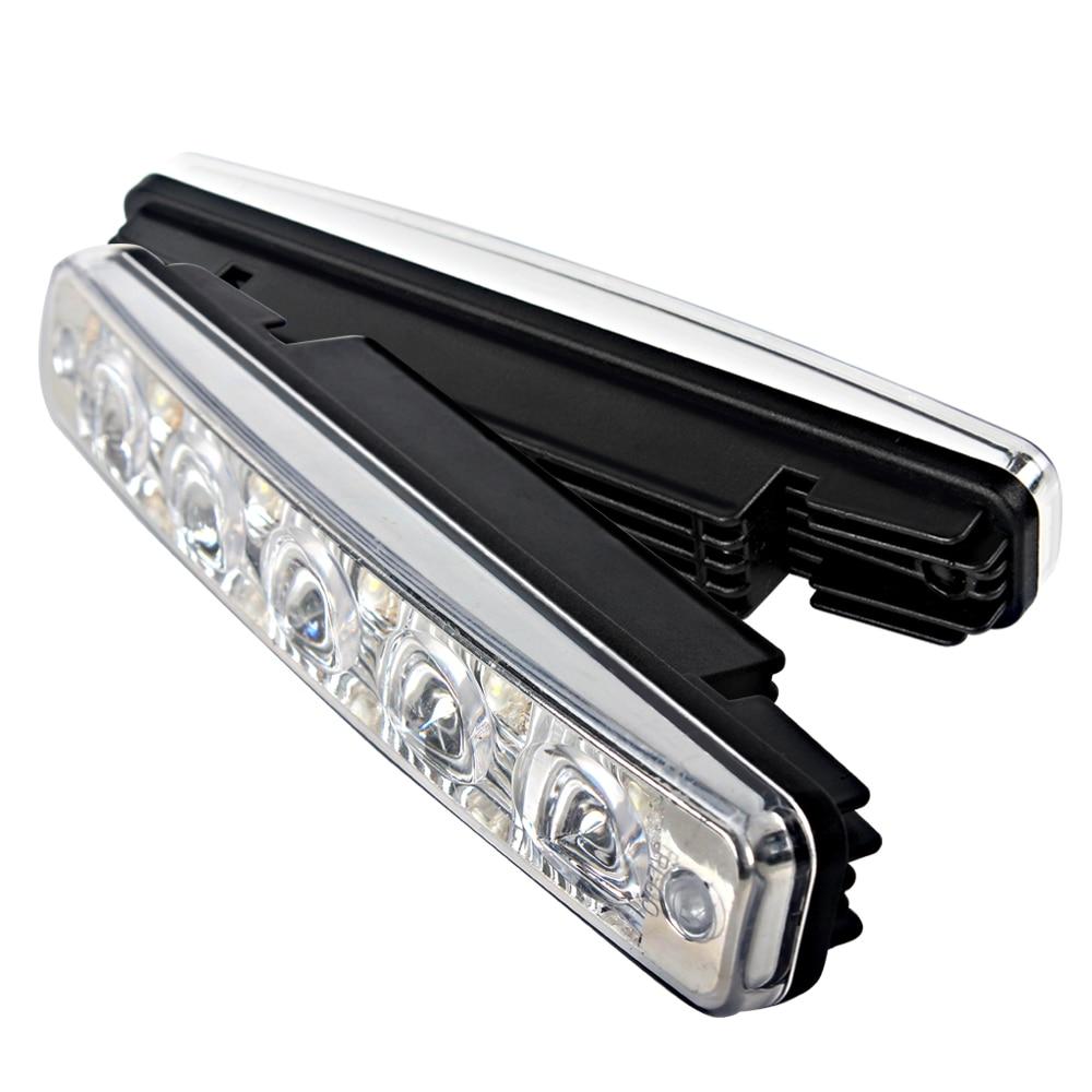 1 Pair Car Styling Universal LED Car DRL Daytime Running Light Daylight 5 LEDs Car Lamp Super Bright