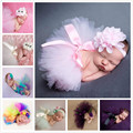 2017 Baby Photo Props Newborn Costume Tutu Dress Skirt Headband Peacock Hand Knit Caps Bead Cap 0-6 M