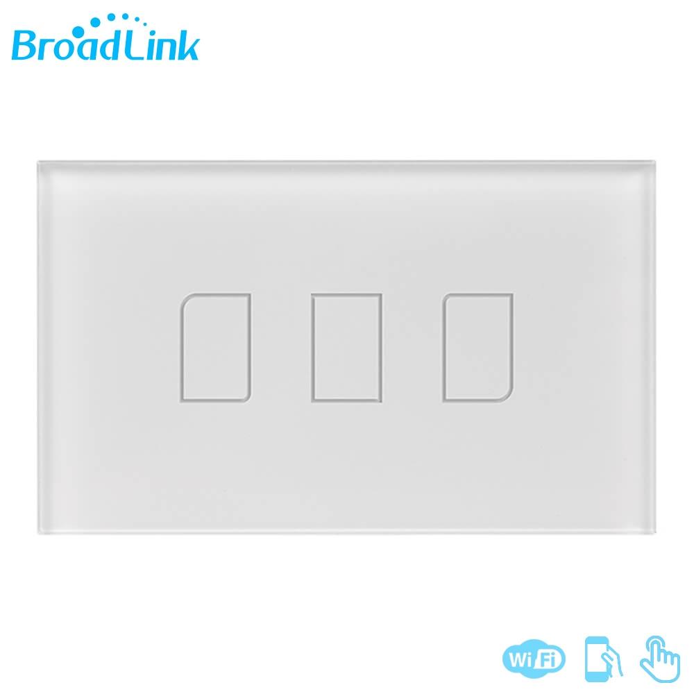 imágenes para Original Broadlink TC2 3 Banda de 433 MHZ Control Remoto Light Touch Panel Interruptor de Pared de Conexión Estándar de EE.UU. Para El Hogar Inteligente sistema