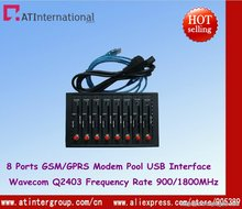 GSM GPRS 8 Ports Modem Pool Q2403 USB Interface