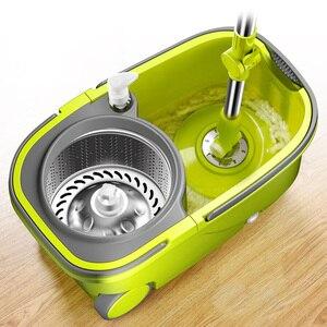 Image 3 - מושעה הפרדת דלי סמרטוט עם גלגלים ספין Noozle סמרטוט נקי מטאטא ראש ניקוי רצפת Windows נקי כלים