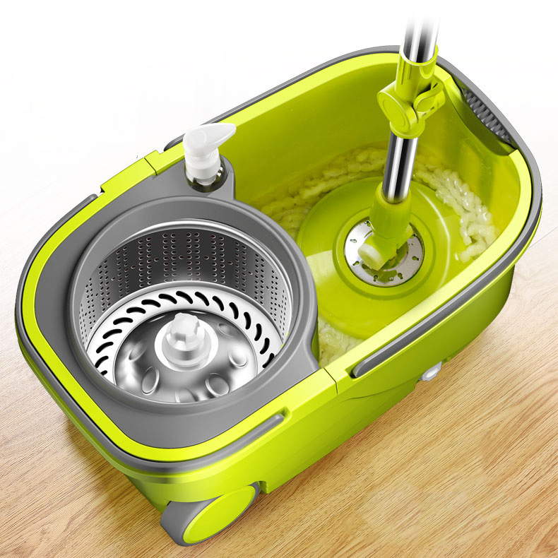 Suspended Separation Bucket Smart Mop With Wheels Spin Noozle Mop Clean Broom Head Cleaning Floors Windows House Car Clean Tools
