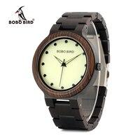 BOBO BIRD WP04 Wood Watch For Men With Luminous Hands Dial Face Brand Design Quartz Watches