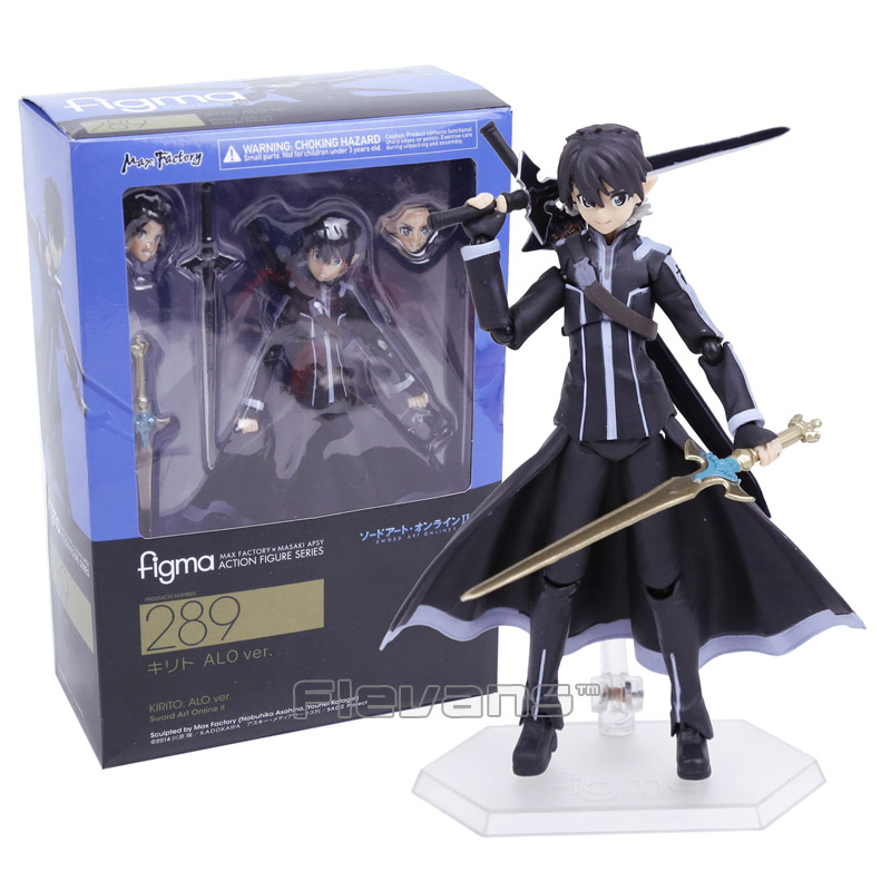 Sword Art Online II KIRITO ALO ver. figma 289 PVC Action Figure Collectible Model Toy 14cm nendoroid anime sword art online ii sao asada shino q version pvc action figure collection model toy christmas gifts 10cm