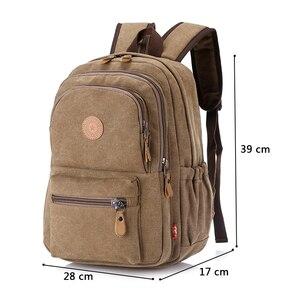 Image 4 - Sac à dos Vintage pour hommes, cartable de voyage de grande capacité pour hommes, sacoche pour école à épaule, nouvelle mode, 2020