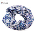 Vancol Brand 2016 Spring Infinity Cotton Cachecol Blue Swag Floral Shawls Bufanda Mujer Hiking Biking Women 2016 Summer Scarf