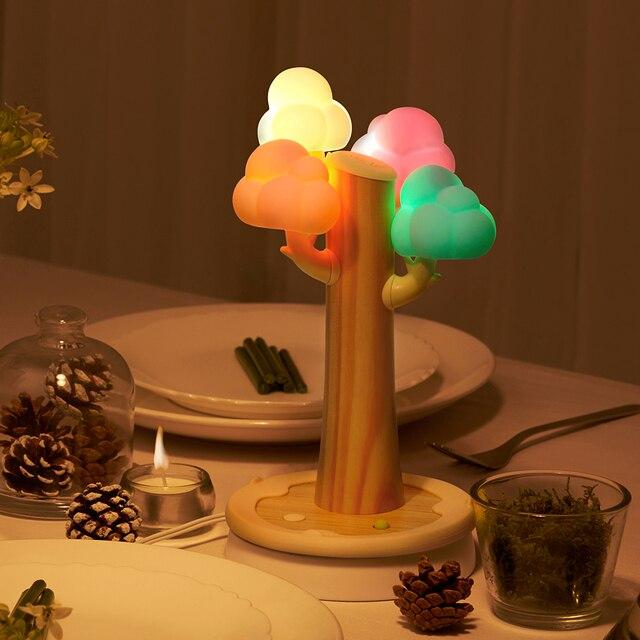 Kreative Weihnachtsgeschenke.Us 70 19 Weihnachtsgeschenke Wolkenbaum Form Usb Telefon Flachbildschirm Ladestation Kleines Nachtlicht Tischlampe Kreative Geschenke In