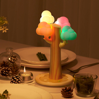 Christmas Gifts Cloud Tree Shape USB Phone Flat Panel Charging Stand Small Night Light Table Lamp
