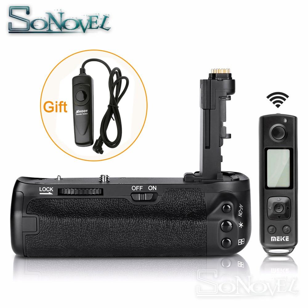 Meike MK-6D2 pro batterie support de prise en main intégré 2.4G télécommande sans fil costume pour Canon 6D Mark II 6D2 travail avec batterie de LP-E6