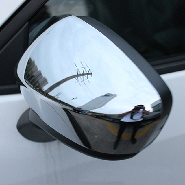 Car Styling Abs Chrome Side Door Mirrors Covers Trims Rear View