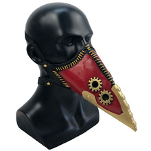 Anime My Hero Academia Overhaul Mask Cosplay Crow Mouth Plague Doctor Halloween Masks Steampunk Face Long Beak Gothic Helmet