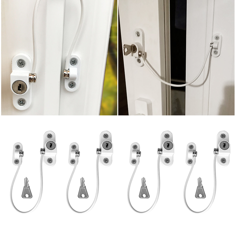 4 Pcs/lot Window Lock Children Protection Window Restrictors Stainless Steel Child Safety Window Stopper Anti-theft Lock Limiter 20 pcs stainless steel exterior side window