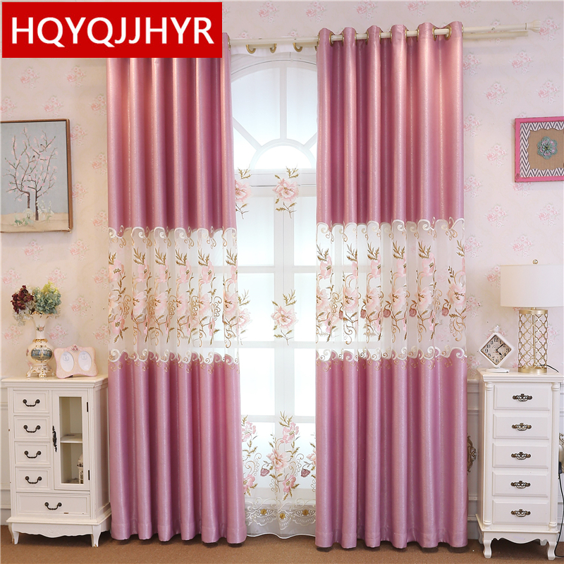 European luxury velvet stitching embroidered blackout curtains for living room window curtain kitchen bedroom