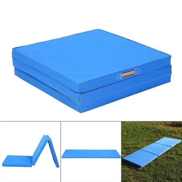 environmental exercise gymnastics mat estink fitness ip tumbling yoga thick blue foam mats tasteless foldable