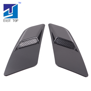 Image 2 - For Mustang 2015 2017 Black Air Intake Trim Panel Front Hood Vent Decoration