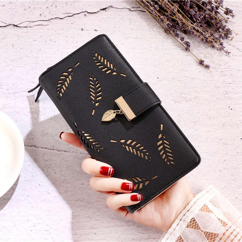Brieftasche weibliche 2018 für münzen nette brieftasche frauen lange leder frauen brieftaschen haspe geldbörsen portefeuille frauen geldbörse weiblichen handtasche