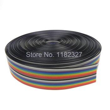 (10 metros/lote) Flat flexible Cable de cinta 40P cable plano 1,27 MM 10000mm conector IDC