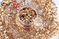 HM2104-232 Canela Color brillo metálico en Forma de Hexágono Glitter Lentejuelas de uñas de arte la decoración de DIY y decoraciones de Halloween