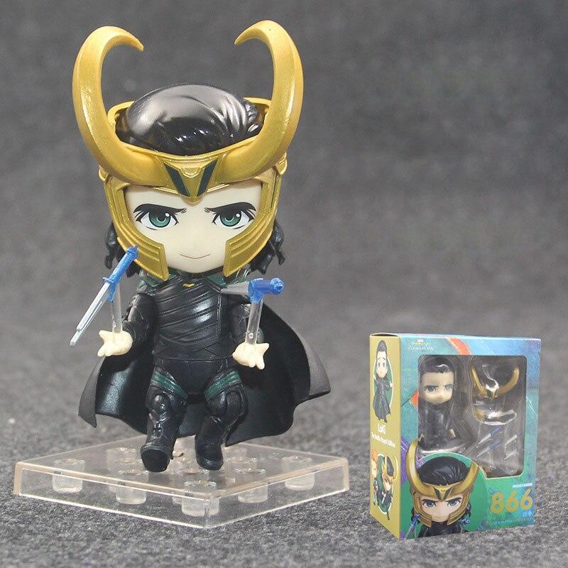10 CM les articulations mobiles Thor 3 Loki 866 Figurine nendoroïde poupées jouets PVC Figurine d'action Collection jouet H597