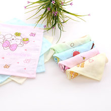 2 Layers Pure Cotton Muslin Baby Towel Face Towel New Born Square Handkerchief Baby Feeding Scarf Saliva Towel Baby Stuff J093(China)