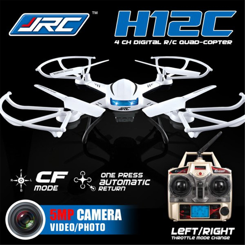 JJRC H12C 2.4G 4CH 6-Axis Gyro CF Mode One Press Return RTF RC Quadcopter Professional Drones with 1080P 5.0MP Camera HD jxd 510g 2 4g 4ch 6 axis gyro 5 8g fpv rc quadcopter rtf rc drone with 2mp camera with one key return cf mode 3d flip f18540