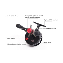 LEO Fishing Reel Fly Reel Wheel Ice Fishing Reel Star Drag Fishing Tackles 4+1 Ball Bearing 2.6:1 Gear Ratio Right/Left Raft