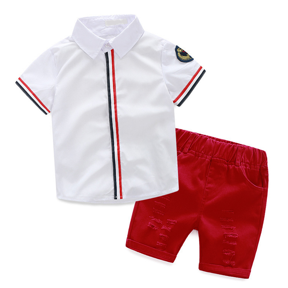 Children Clothing Sets 2017 New Summer Style Baby Boys Girls T shirts+Shorts Pants 2pcs Sports Suit Kids Clothes for 2-6Y  new 2015 summer children t shirts baby clothes child 100