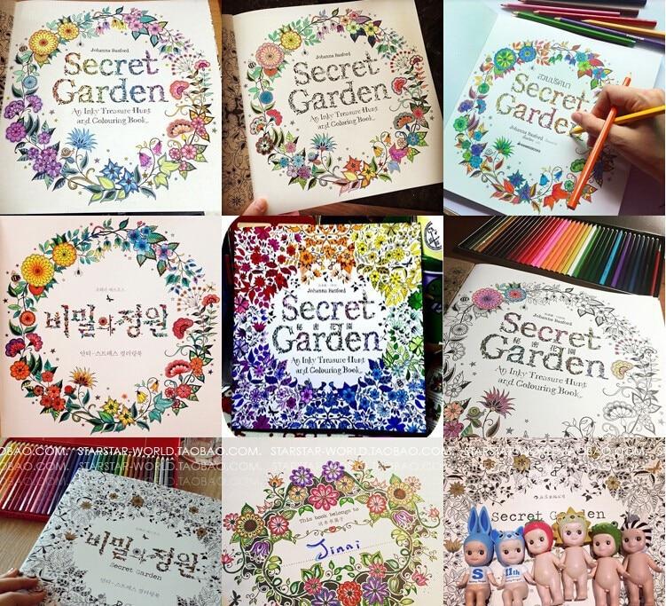 2015 Full Set Of Kids Secret Garden Fantasy Dream Enchanted Forest Art Coloring Book Children Adult