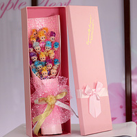 Creative Gift Bouquet of Hat Doll& Curly Dolls Bouquet Shiny Valentine's Day Flowers Artificial Flowers for Decoration