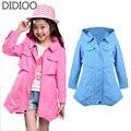 Crianças jaquetas para as meninas brasão outono & primavera moda roupa dos miúdos do bebê outwear para marca infantil top roupas 4 6 8 10 12 anos