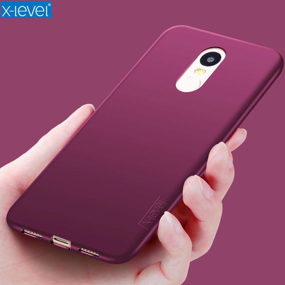 X-Level Soft Silicone Case for Xiaomi Redmi Note 4X Global Version Back Cover for Xiaomi Redmi Note 4X Snapdragon
