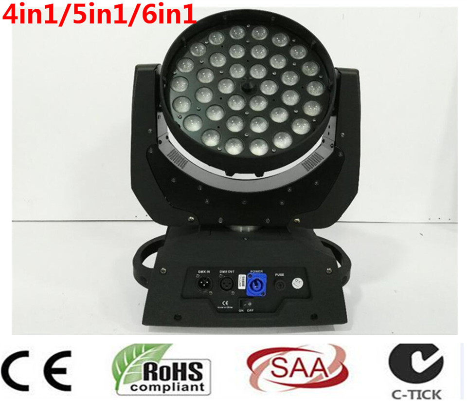 36x12 W 36x15 W 36x18 W 4in1 5in1 6in1 Zoom Testa Mobile A Led luce RGBWA UV DMX512 Led Moving Head Wash Effetto Fascio luce