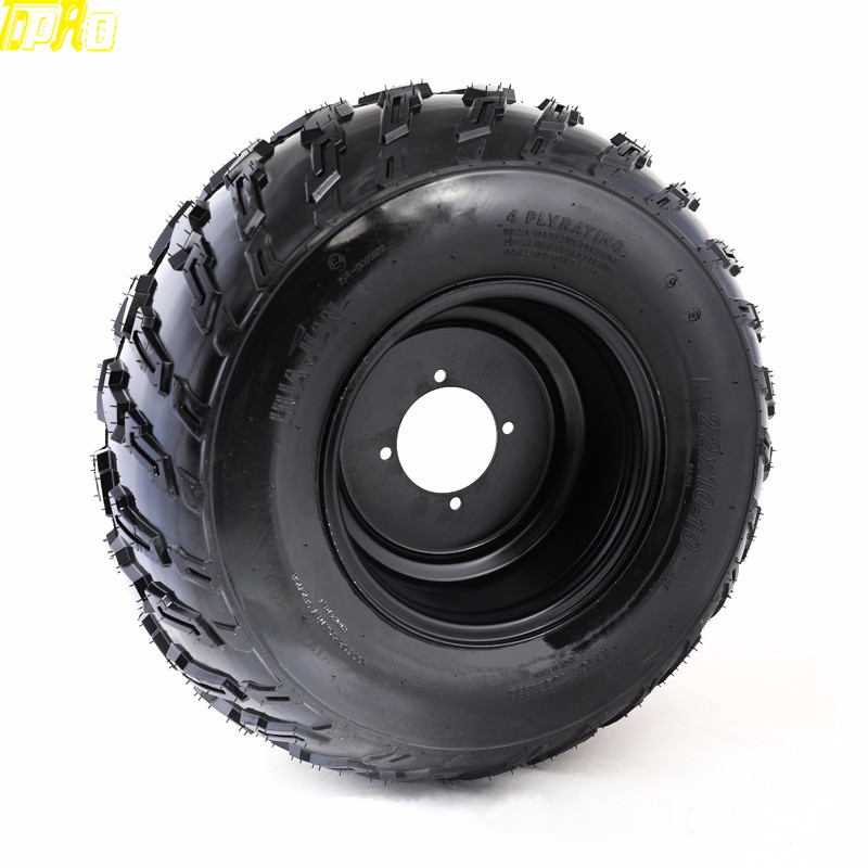 Genuine New 22x10-10 10 Tire Wheel 22X10X10 Tyre Tires Rim Pneu For 200CC 250cc 300cc ATV Supermoto Quad GO KART Taotao Buggy