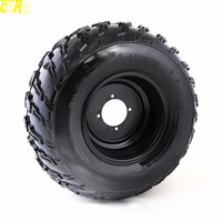 Genuine New 22x10 10 10 Tire Wheel 22X10X10 Tyre Tires Rim Pneu For 200CC 250cc 300cc ATV Supermoto Quad GO KART Taotao Buggy