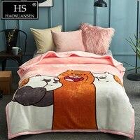 2,40 кг роскошные мультфильм Медведи розовый мягкий облачно одеяло для Twin ребенок кровать одеяла зимнее покрывало см 200x150 см пледы