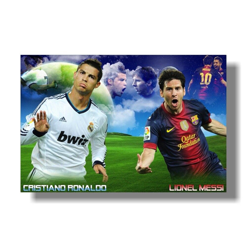 2018 new product lionel messi vs cristiano ronaldo sports posters