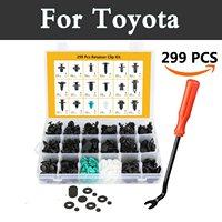 299pcs Car Retainers Door Bumper Trim Clip Rivets Push Pin Fasteners Tool For Toyota Hilux Surf