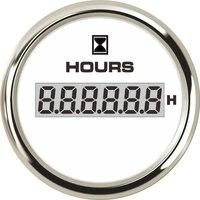 1pc New Type 52mm Digital Hour Meter Modification LCD Waterproof Hourmeter Clock Gauge Clock Meter with 8 Kinds Backlight Color