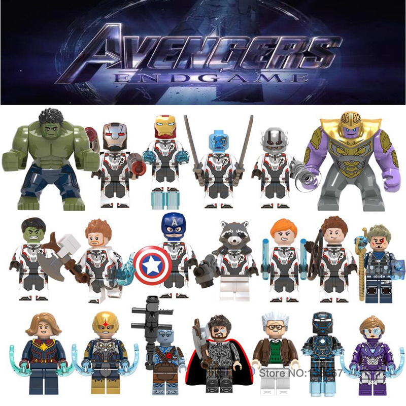 Legoings 8 pcs//lot Marvel The Avengers Thor Capitaine Ironman Wolverine Hulk Jus