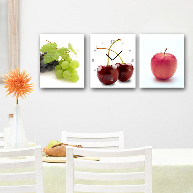 3 Panel Wall Art Painting On Cuadros Picture Oil Paintings Modern Fruit  Apple Kitchen Pictures Hd