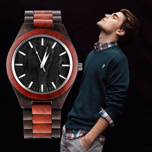 REBIRTH Wooden Men Watches Relogio Masculino Top Brand Luxur