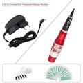 Nova KX-102 Profissional Caneta Maquiagem Permanente Máquina de Tatuagem Do Dragão Vermelho Kit com fonte de Alimentação para Sobrancelha Delineador de Lábios