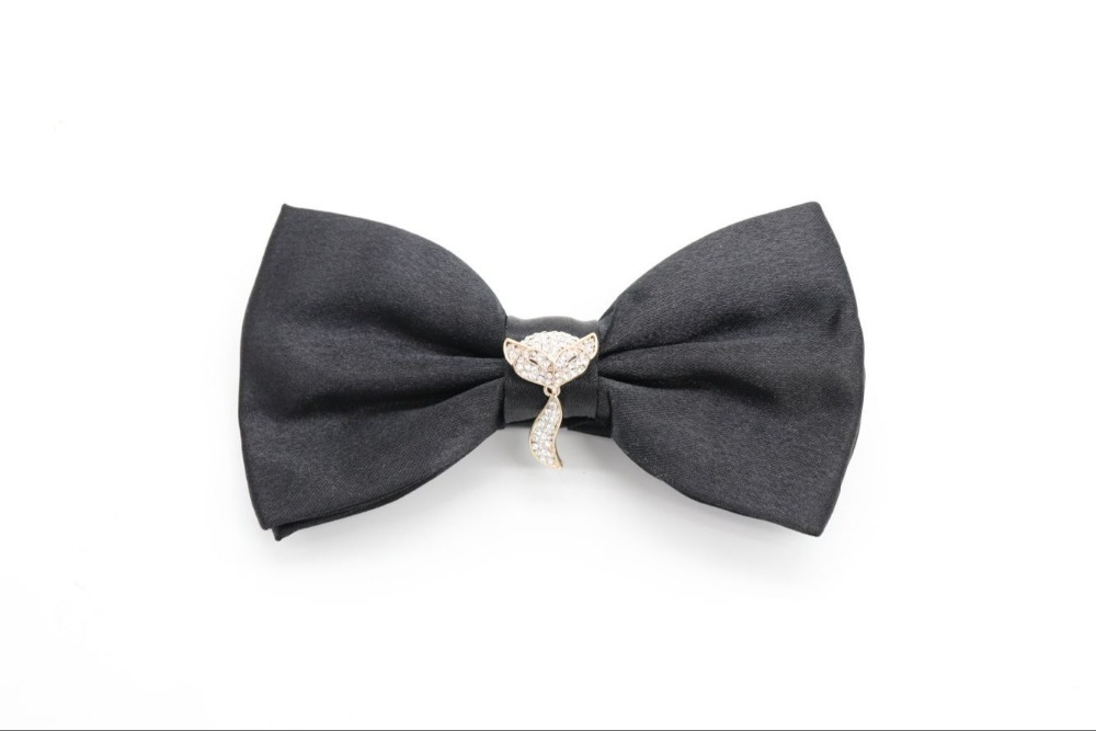 Fashion Crystal Pearl Alloy Decoration bow tie Clover Camellia Fox women mens kids party wedding bow tie blouse holiday gift