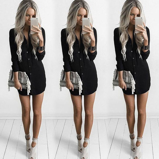 Womens Long Sleeve Shirt Casual Blouse Loose Summer Fashion Cotton Tops Shirt 6