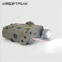 FMA PEQ15 LA5 Tactical Outdoor Hunting Red laser LED Flashlight IR Lens For Hunting Rifle Airsoft Battery Box New Night Version