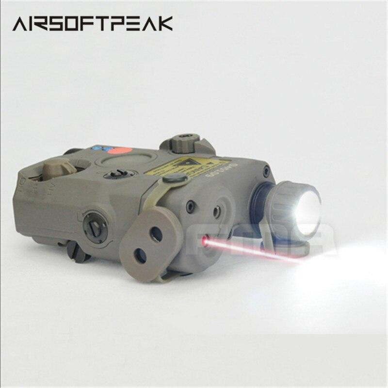 FMA PEQ15-LA5 tactique de chasse en plein air rouge laser lampe de poche LED IR lentille pour fusil de chasse Airsoft batterie boîte nouvelle Version de nuit