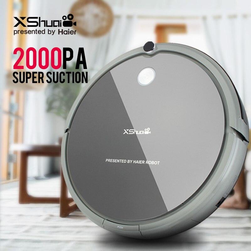 XShuai HXS-G1 Aspirateur Robot Sans Fil 2000 PA Super Aspiration Recharge Automatique Gyro Navigation Balayage Glisser Pour Plancher De Bois Tapis