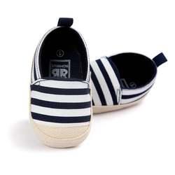 Обувь в синюю полоску для маленьких мальчиков, красивая обувь для малышей с мягкой подошвой