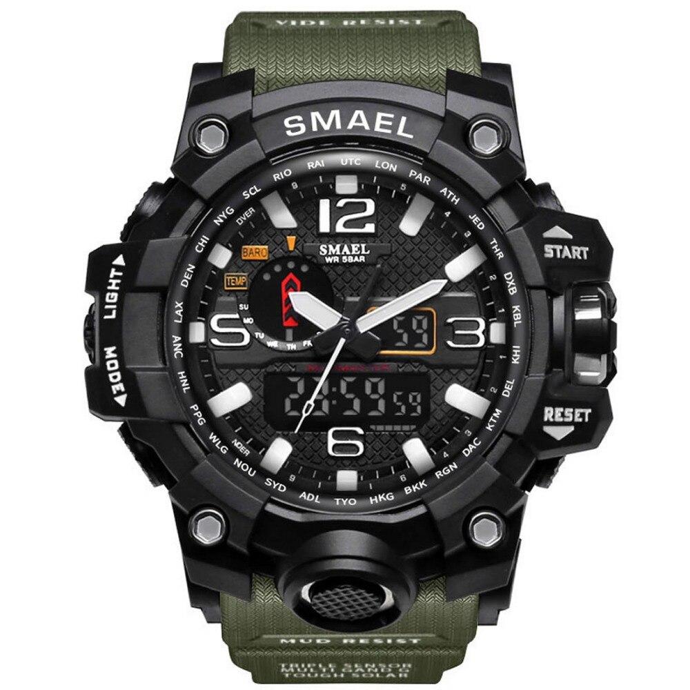 New SMAEL Military LED Digital Watch Men Top Brand Luxury Famous Sports Watch Male Clock Electronic WristWatch Relogio Masculino