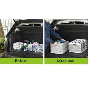 Image 5 - auto car folding storage box car organizer Multi function Plastic car debris storage box trunk organizer travel freeshipping